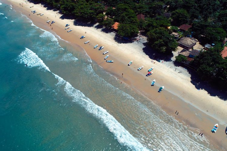Panoramic view of bay of paraty in the sunny day, rio de janeiro, brazil