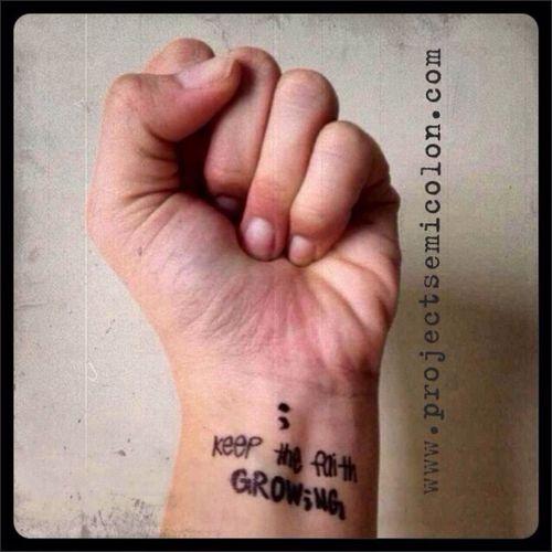 www.facebook.com/semicolonmovement Semicolonproject416 Projectsemicolon Semicolon Faith