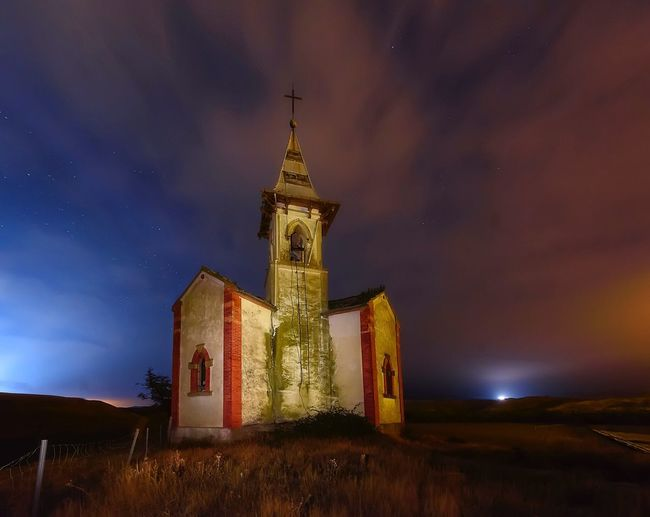 Vergalijo Religion Spirituality Sky No People Building Exterior Architecture Cloud - Sky Nature Nightphotography Night Outdoors Church