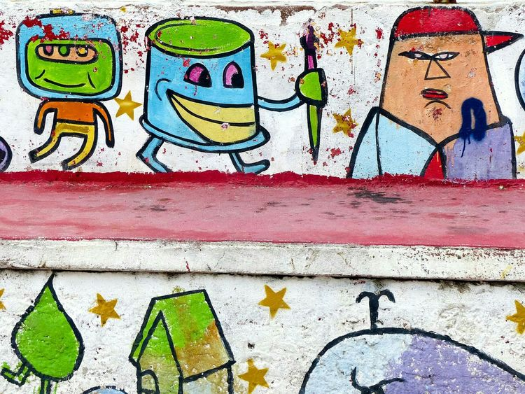 Urban art in Panama City. Graffiti Urban Art Panama City Early Morning Taking Photos The Street Photographer - 2015 EyeEm Awards The Traveler - 2015 EyeEm Awards Urbanphotography Eye4photography  Check This Out