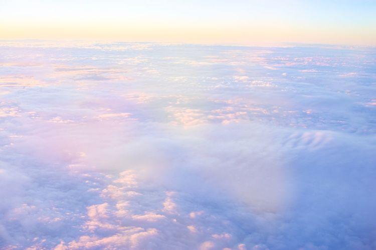夢 Dream Dreaming Dreamy Sky Cloud - Sky Nature Tranquility Beauty In Nature Scenics Sunset Aerial View No People Outdoors Heaven Tranquil Scene Sky Only Day
