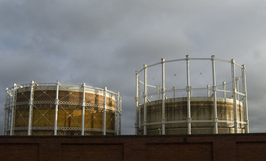 Gas Tanks Against Sky