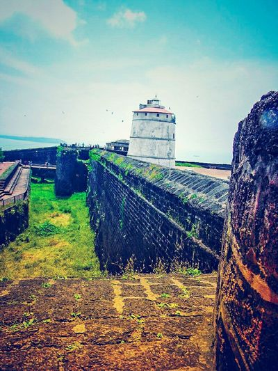 fort aguada EyeEm Gallery Goa Forts India Indiapictures Indian Indian Culture  Ocean Portugal Aguada Fort Evening Perfect Love Lighthouse Architecture Buildings Beautiful Photography EyeEm EyeEm Best Shots EyeEm Nature Lover