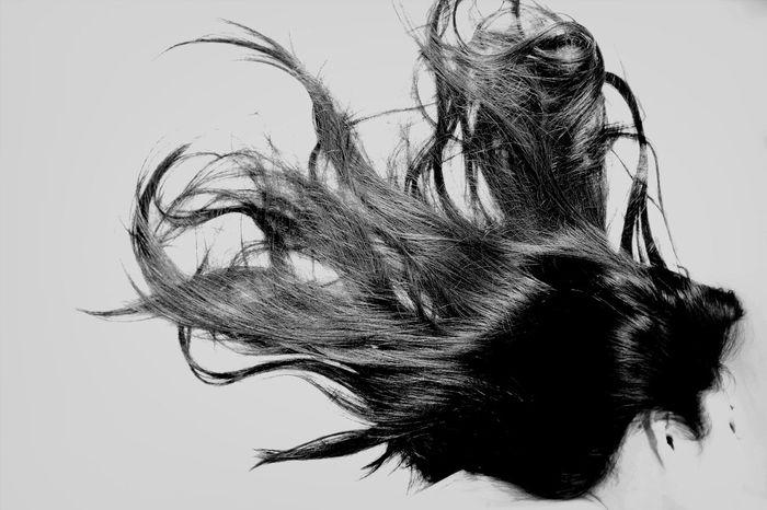 Blackandwhite Monochrome Hair Woman
