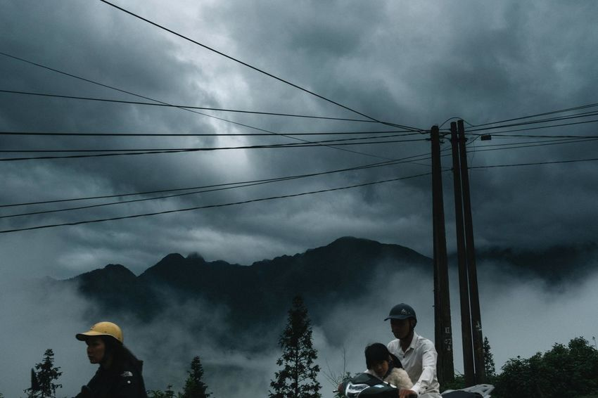 Streetphotography Sapa Vietnam Xpro2 Telephone Line Technology Electricity Pylon Tree Electricity  Togetherness Fuel And Power Generation Cable Ski Lift Electrical Grid