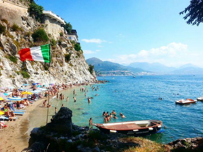 Cetara Cetarabeach Sea Summer Blue Sunnyday Beach Italy Beautiful Place