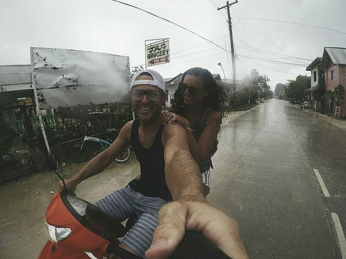 Two People Togetherness Fun Happiness Enjoyment Young Women Summer Carefree Adults Only Adult Young Adult People Smiling Friendship Wet Outdoors Bonding Cheerful Day Storm Rainstorm Moped Riding My Motorcycle Marriage  Trust Investing In Quality Of Life The Week On EyeEm Connected By Travel An Eye For Travel The Traveler - 2018 EyeEm Awards
