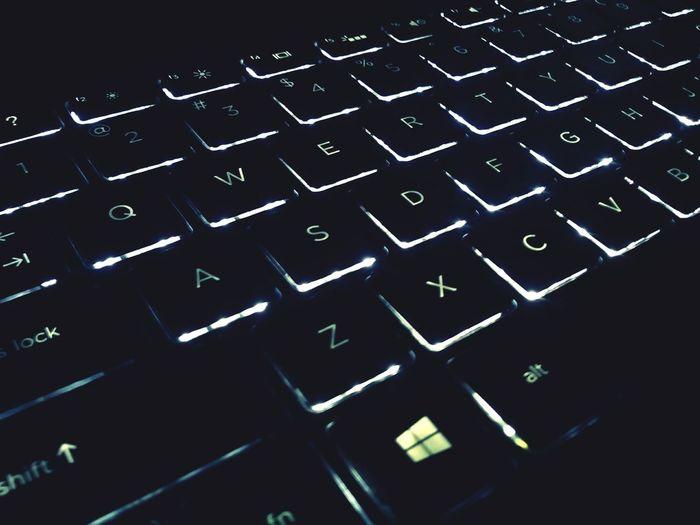 The Color Of Technology Technology Keyboard Back Lit Backgrounds Alphabet