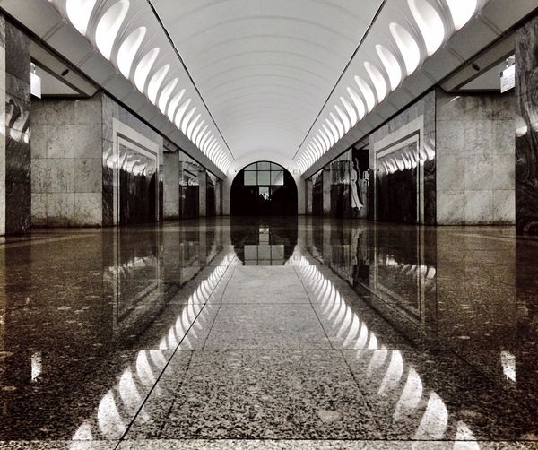 Moscow Metro Stations Notes From The Underground Urban Geometry Architecture EyeEm Best Shots Killtheunderground Empty Places Reflection The Architect - 2015 EyeEm Awards Amazing Architecture My Best Photo 2015