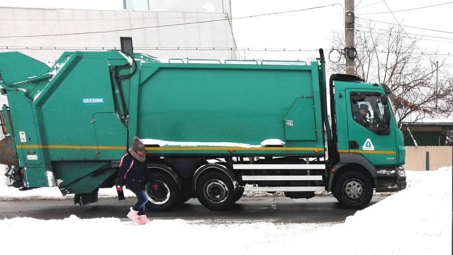 Snow Winter Cold Temperature Car Transportation Land Vehicle Outdoors Day Person People Streetphotography Street Road Car On Road Edited By @wolfzuachis Eyeem Market Wolfzuachiv @WOLFZUACHiV Showcase: 2017 Veronicaionita Huaweiphotography Showcase: January On Market Garbage Truck