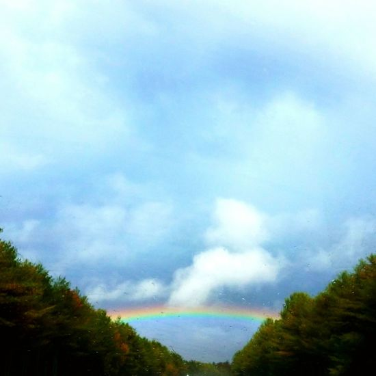 Rainbow Rainy Day Beauty In Nature Colors Fall Massachussets Outdoors Nature Sky