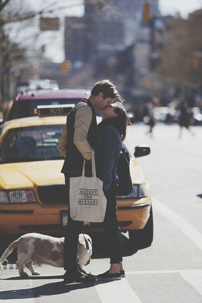 Cute Couple New York Love Live Life Without Regrets Start Out Fresh And Enjoy ♡  ?????☀?❤????❤?????????