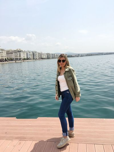 ▶️Sunny Day in Greece 📍Thessaloniki, Greece EyeEm Selects One Person Real People Water Standing Lifestyles Casual Clothing Leisure Activity Full Length Young Adult Young Women Front View Looking At Camera Glasses Nature Portrait Day Sky Fashion Beautiful Woman Outdoors