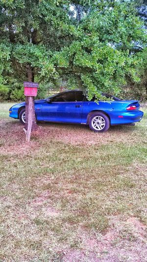 Car American Made American Muscle Chevrolet Camero Z28 Blue Car My Car American Muscle Car Fast Cars Fast Outdoors Bird Feeder Tree