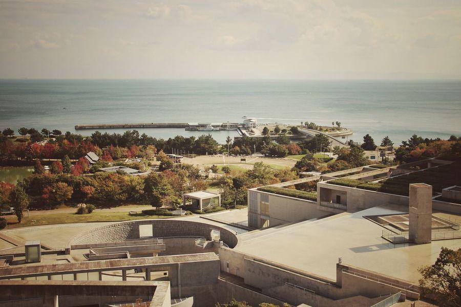 Tadao Ando Architecture | Awaji Yumebutai | Horizon Over Water Sky Outdoors Nature Japan Through My Eyes Wall Fine Art Personal Perspective Traveling Garden Awaji Island Japan|