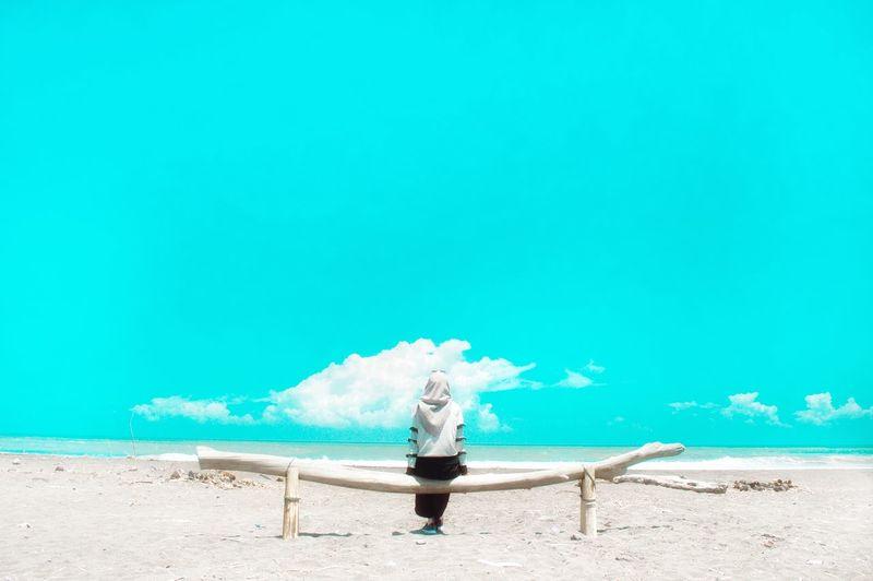 INDONESIA Adventure Travelling Chilling Trip EyeEm Selects Yogyakarta Nostalgia Sunbathing Morning Xiaomiphotography View Sand Shore Wave Xiaomi Yicam EyeEm Best Shots EyeEmNewHere Water Sea Beach Nature Sky Day Outdoors Holiday Horizon Over Water Environment