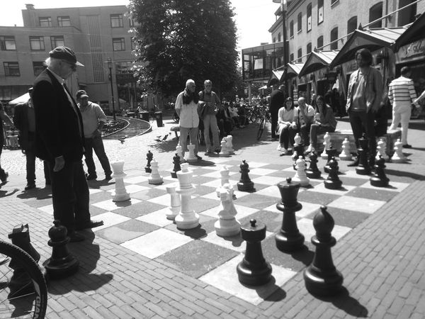 """""""Your Move"""" Blak And White HuaweiP9 Chessboard Bigsize Amsterdam Leidseplein"""