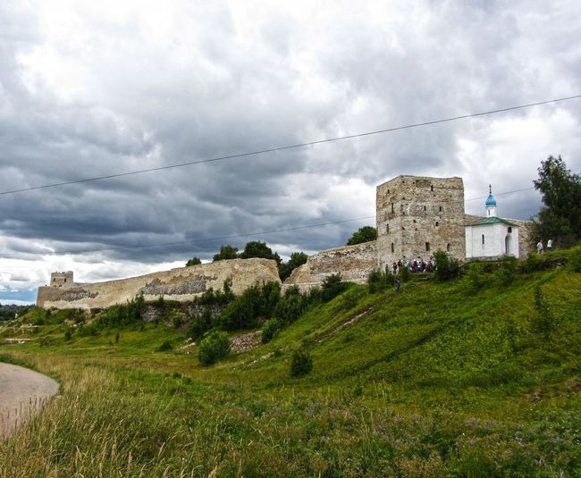 Izborsk. Russia. Castle Izborsk Russia Sky Nature No People Outdoors Grass