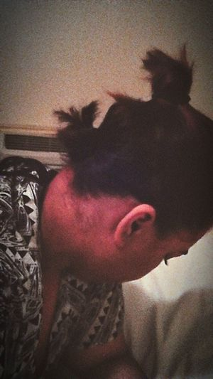 Hairstyle Hairbuns Short Hair Lazy Half And Half Side View Side Eyelash