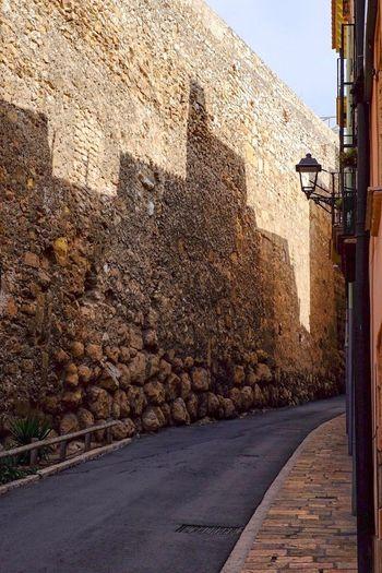 Road Street Stone Wall Calle History Empty Road No People SPAIN España Tarragona