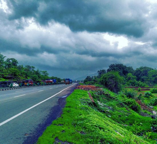 Latepost Beauty In Nature EyeEm Nature Lover EyeEm Best Edits Taking Photos Scenics Eye4photography  Skyporn Clouds And Sky Moody Sky Monsoon Photooftheday Sky Outdoors No People Road Fragility Cloud - Sky Nature Travel Traveling Beautiful Nature Nature Photography