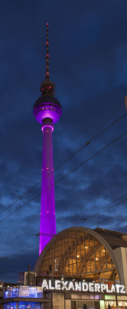 Low Angle View Of Berlin Tv Tower Against Sky