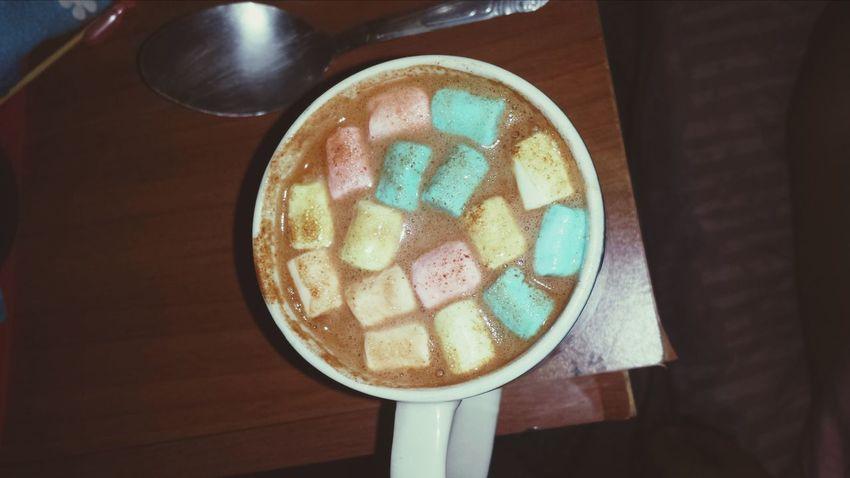Chocolate Caliente Rico Mashmellow Yummy♡