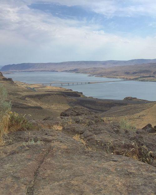 Vantage Columbia River Gorge Washington America Summer High Desert