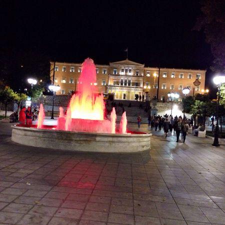 The magic red fountain of #Athens... #TBEXathens #ThisIsAthens #TBEX