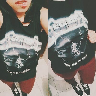 ? Oufit Selfie Vscocam Metallicashirt metallica