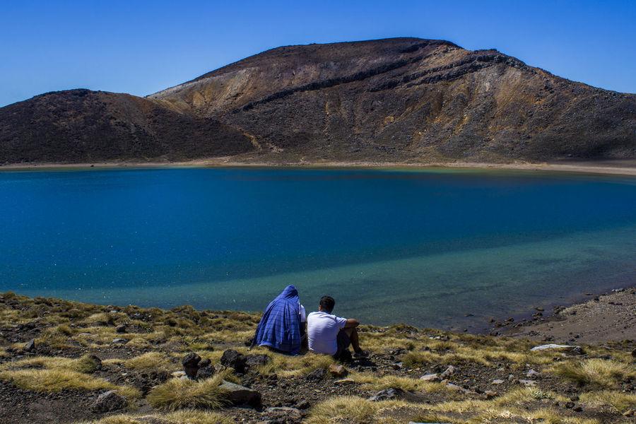 tongariro 2 People Blue Horizon Lake Long Goodbye Love Montains    People Sky Tongariro Tongariro Crossing Water