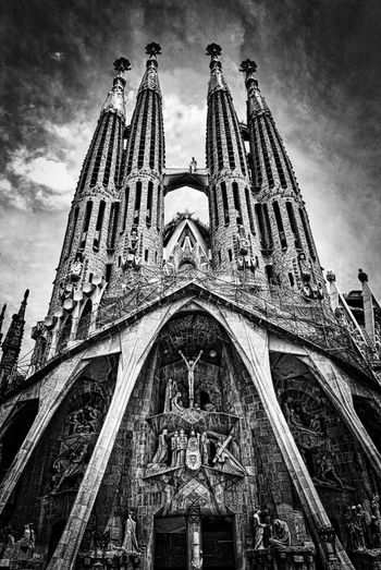 Barcelona Cathedral Church Segrada Familia The Architect - 2018 EyeEm Awards Arch Architecture Belief Building Building Exterior Built Structure Day Gothic Style History Low Angle View Nature No People Ornate Place Of Worship Religion Sky Spire  Spirituality The Past Travel Destinations
