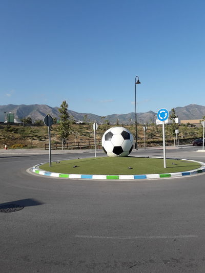 The ball is round Roundabout Art Fotball Goal Post Sport Soccer Playing Field