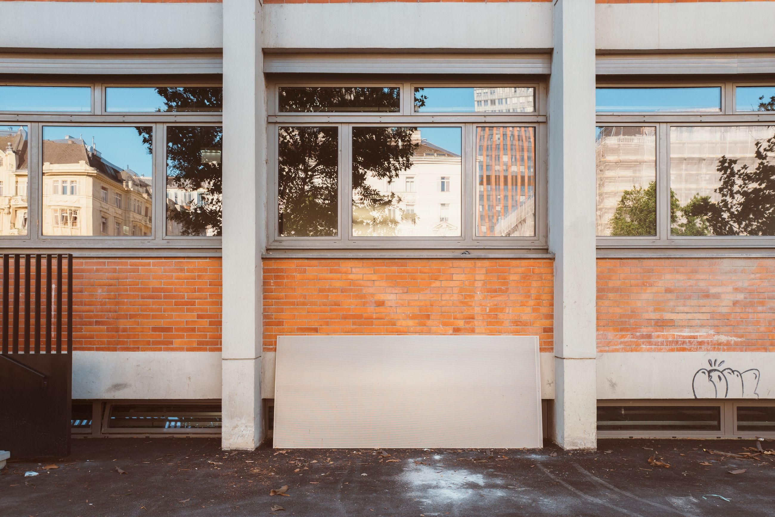 window, architecture, no people, built structure, day, glass - material, indoors, transparent, building, flooring, empty, absence, wall, nature, wall - building feature, cold temperature, entrance, seat