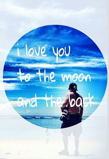 iloveyou to the moon and the back..... Sea View I Love You ! Pacarnanjauhdimato Lelakiku RyaNadia Mr&mrs Messy