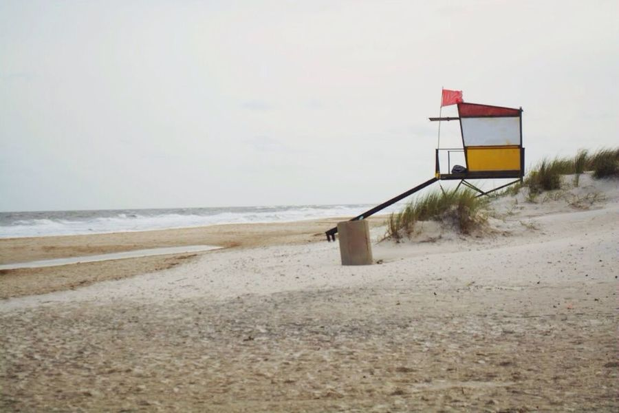 Beach Sea Nature Sand Day Tranquility Water Scenics Outdoors Tranquil Scene Live For The Story No People Clear Sky Beauty In Nature Sky Lifeguard Hut