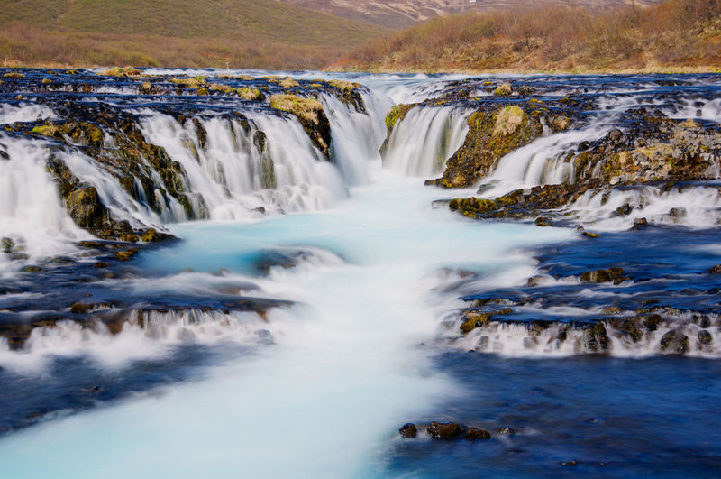 Bruarfoss Waterfall in Iceland Beauty In Nature Blurred Motion Bruarfoss Bruarfoss Day Iceland Iceland Memories Iceland_collection Icelandtrip Landscape Landscape_Collection Long Exposure Motion Nature No People Outdoors Power In Nature Scenics Water Waterfall Waterfalls