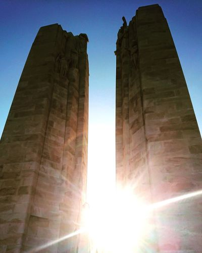 Vimy Ridge Memorial Vimy Ridge Monument Rememberance Sunlight History Sun Sky Architecture National Monument Memorial War Memorial