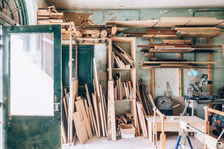 Interior of a craftsman workshop