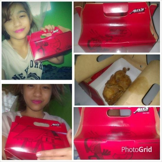 Thanks baby for pasalubong my forever favorite Maxchicken ;) i so loveit Maxrestaurant Busog  Dinner
