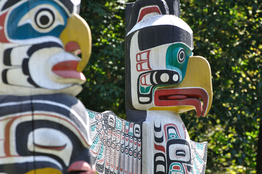 Stanley Park, Vancouver, Canada Art Close-up Day Native American No People Outdoors Totem Pole Vancouver Wood