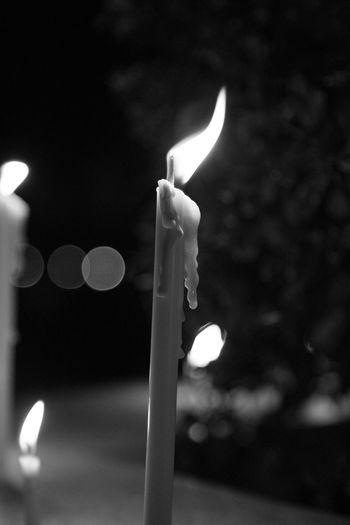 Light RAMA9 I Love King Sad Day Thailand Blackandwhite Burning Candle Candlelight Candlelights Celebration Close-up Diya - Oil Lamp Flame Focus On Foreground Glowing Heat - Temperature Illuminated Indoors  Lighting Equipment Night No People