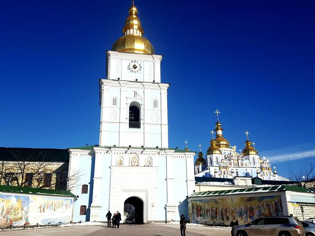Miles Away Religion Place Of Worship Spirituality Travel Destinations Clear Sky Travel Ukraine 💙💛 Kiev Solotraveler Ukraine Architecture Outdoors Tower Business Finance And Industry Clock Tower Clock Pilgrimage Tree Night Astronomy Clock Face People