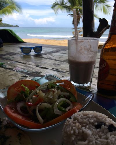 Lunch Milkshake Beer Balboa Palm Tree View Riceball Fish Sea Beach Food And Drink Healthy Eating Drink Food Nature Outdoors Perfect View Beach Life Caribbean Sea Caribbean Bocas Del Toro Lunch Time! Panamá Central America Visual Feast This Is Latin America