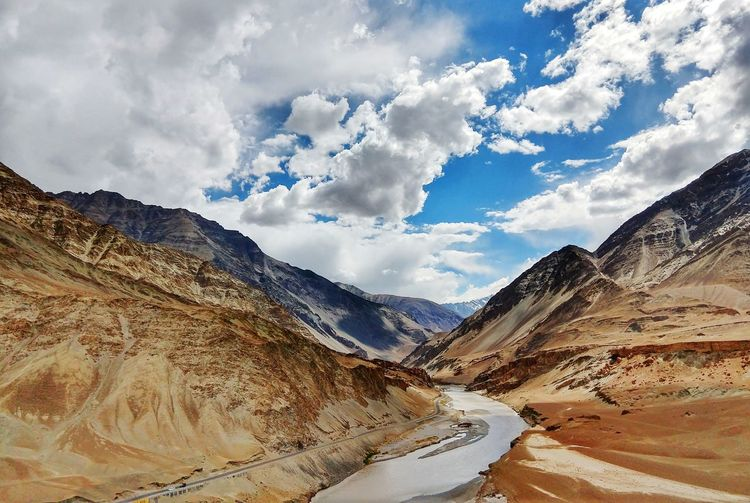 Valley Valleys Mountain Range Beauty In Nature Desert Sky Cloud - Sky