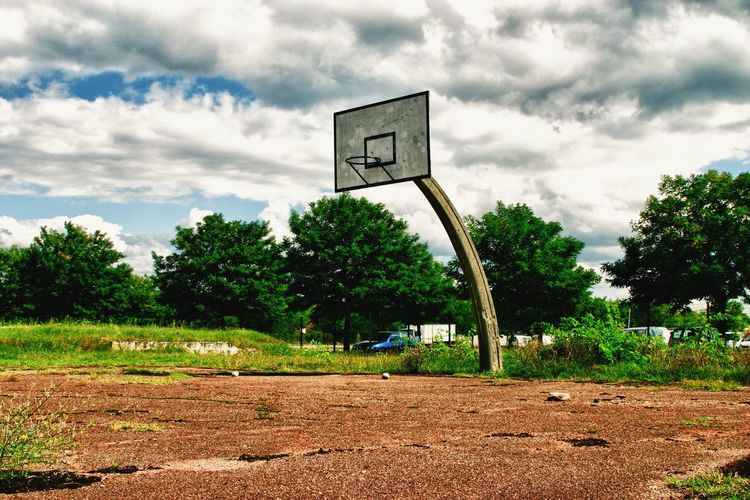 Old basketball playground in suburban Lyon Clouds And Sky yPlaygrounds sBasketball Court t Only Lyon Lyon France Hello World HDR Collection
