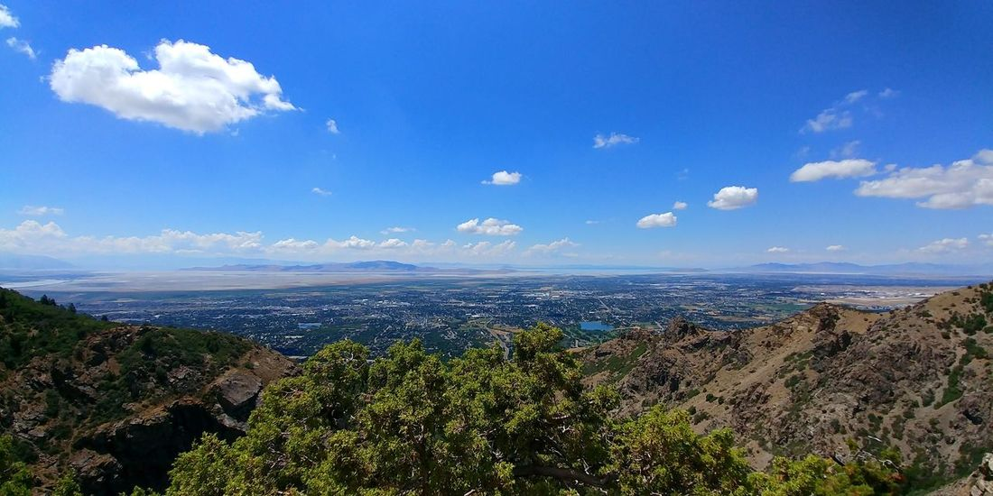 Nature Cloud - Sky Sky Blue Landscape Outdoors Day Beauty In Nature Scenics Tree City View From The Mountain Mountain Range Green Color Summer Hikingadventures Wasatch Mountains WasatchFront Tranquility . Rocky City Of Layton Utah And Beyond View From 7000' Up