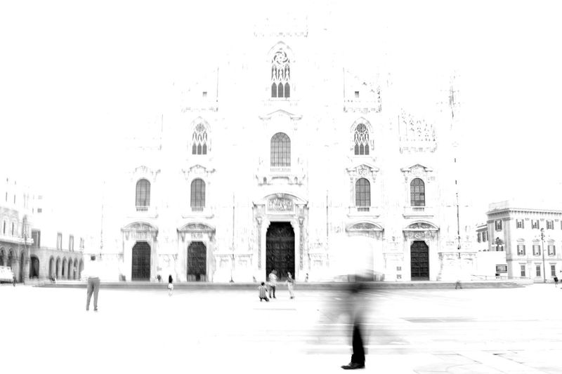 Blackandwhite Duomo Early Morning Early Bird Milano Panning Shadow Men Outdoors Streetphotography Illuminated Real People Black And White Friday