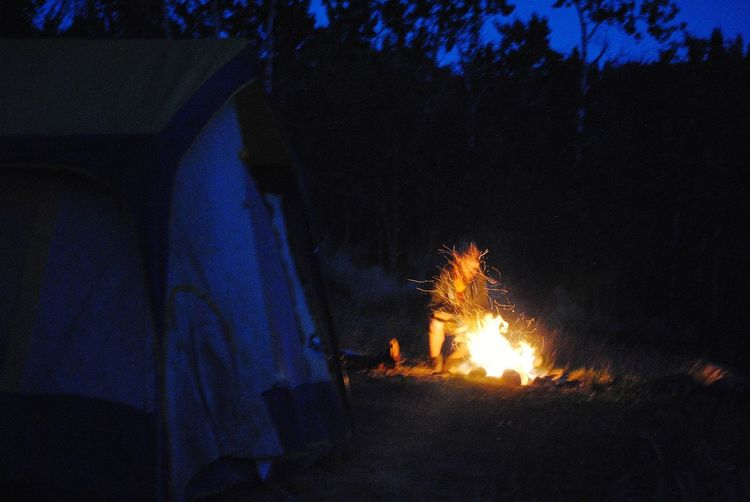 camping on a