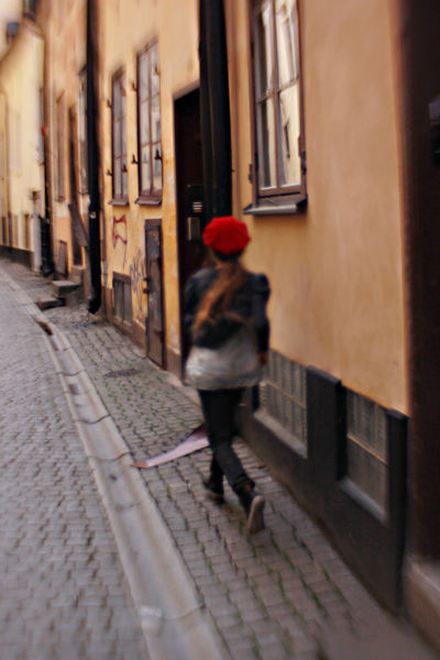 Building Depth Of Field Door Girl Lifestyles Narrow One Person Redhat Selective Focus Stockholm, Sweden The Way Forward Urban Walking Wall Wall - Building Feature Window